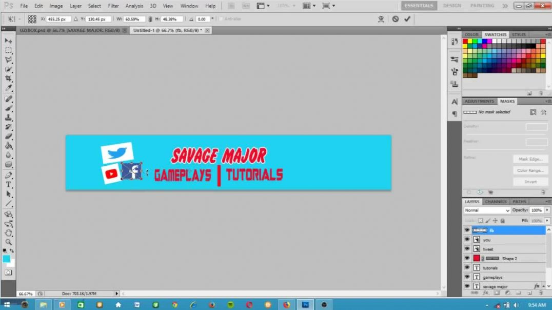 How To Make a UZIBOX Channel Banner with PHOTOSHOP[FULL TUTORIAL]
