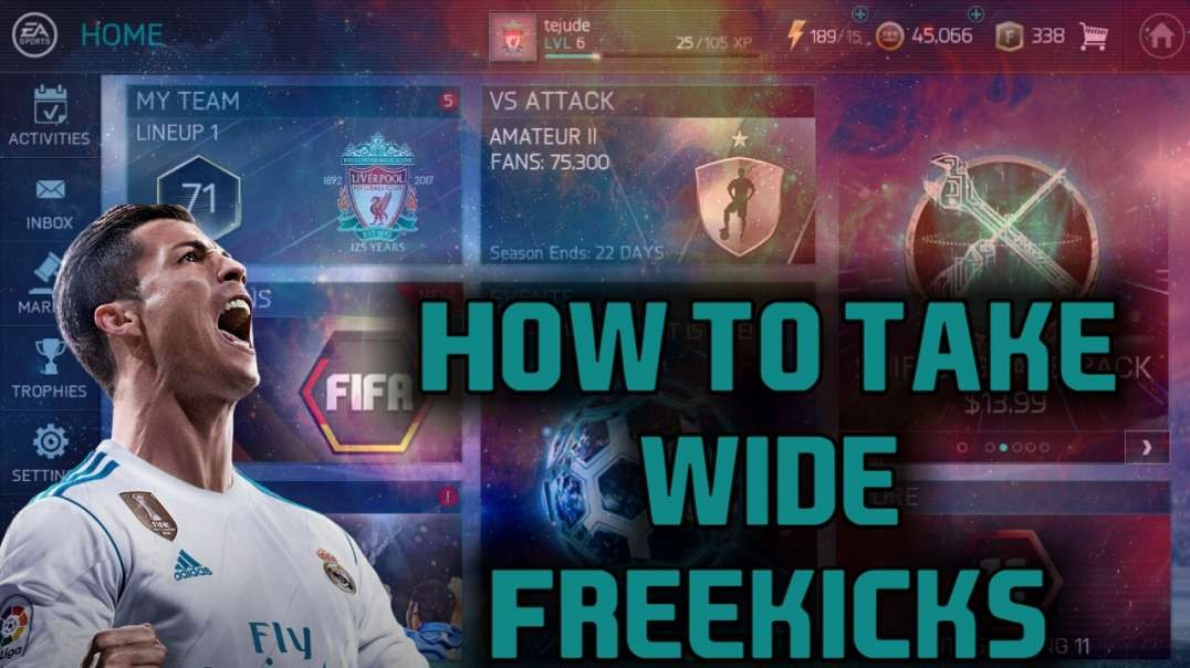 How to take wide freekicks in FIFA Mobile