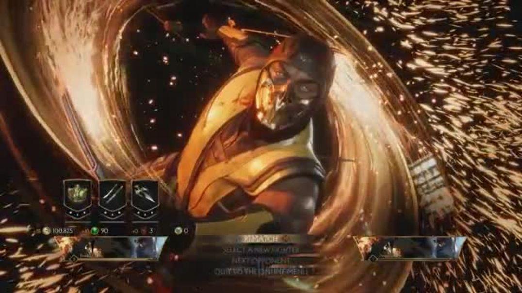 MK11-Scorpion All Fatalites, Brutalities, Fatal Blows Gameplay
