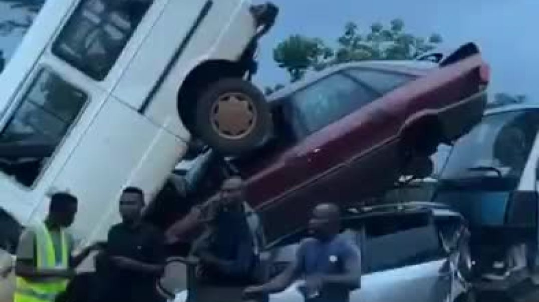 Multiple Auto Crash As Residents Rush To Beat Curfew In Edo