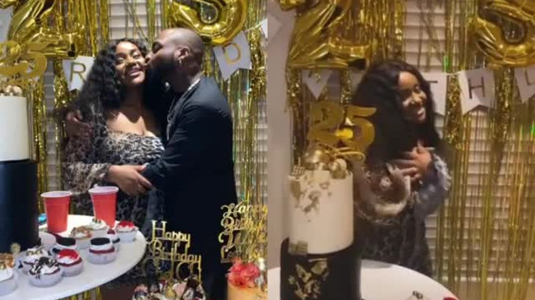 Chioma celebrate's her 25th Birthday  with davido
