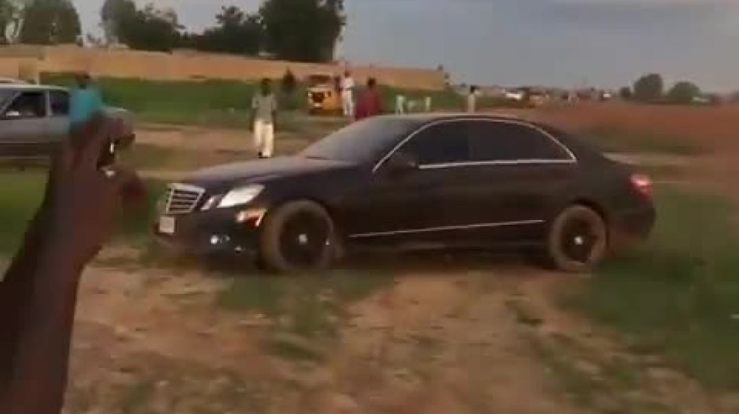 Abuja boy uses Mercedes Benz to drift