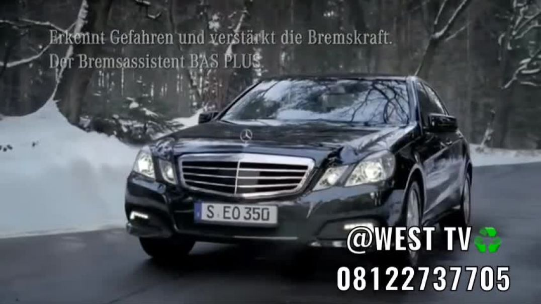 The best Mercedes  Benz  E class brake system advert  you will ever see