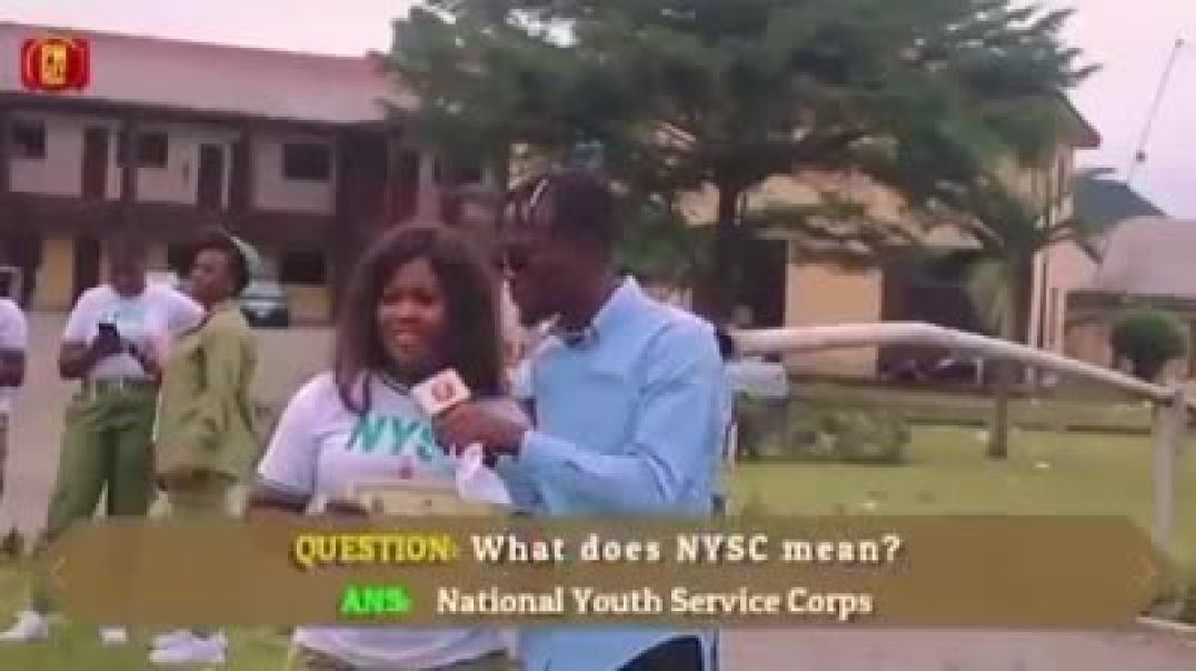 Corpers asked what is the meaning of NYSC and P.O.P.  Their answers are funny