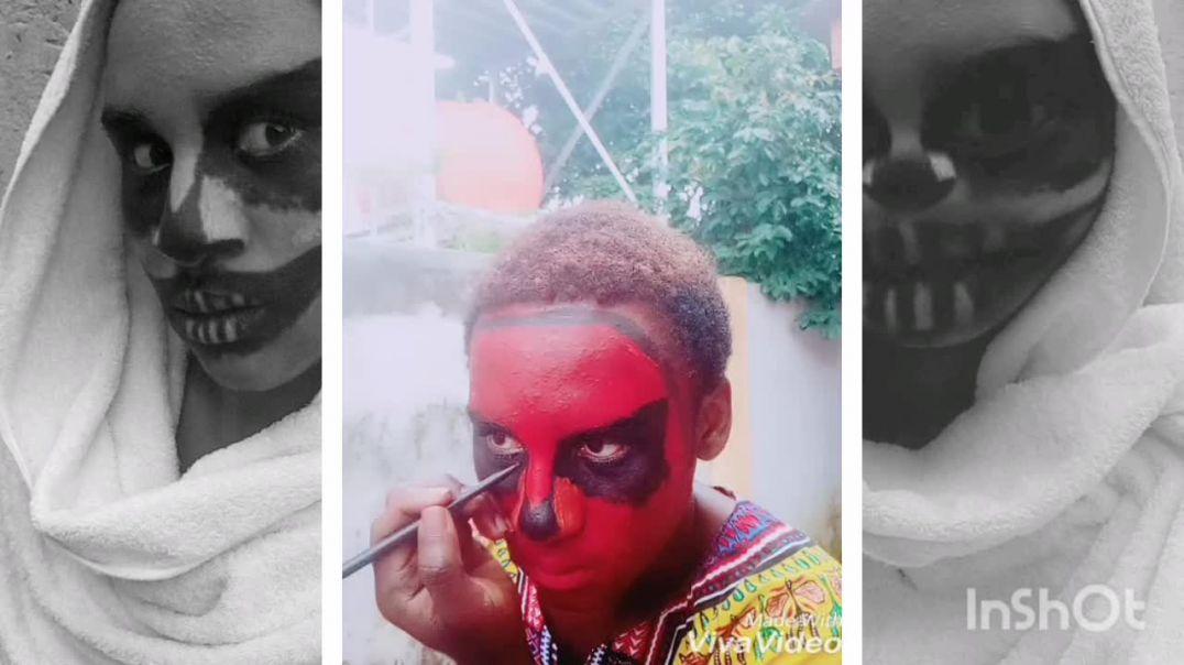Halloween makeup tutorial .3minutes tutorial