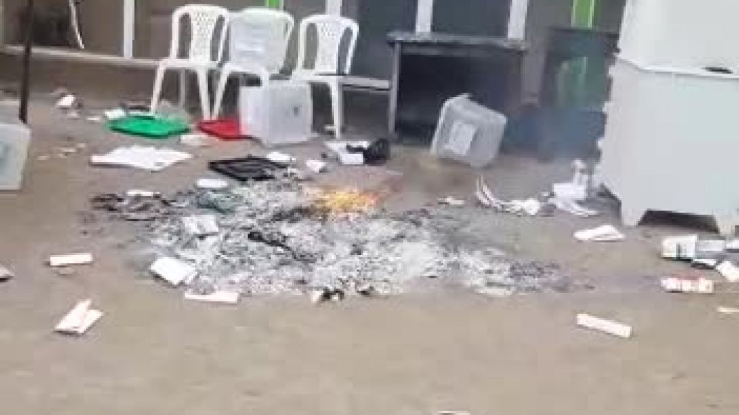 Burning of ballot papers in lagos state