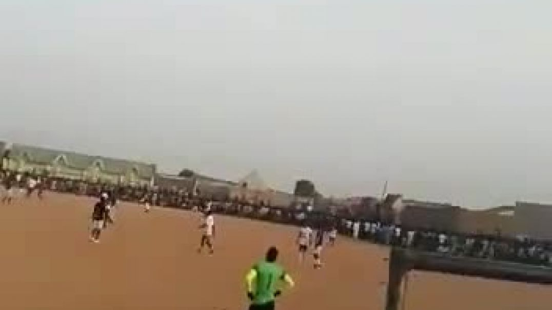 Kano residents defy social distancing And lock down to see football match